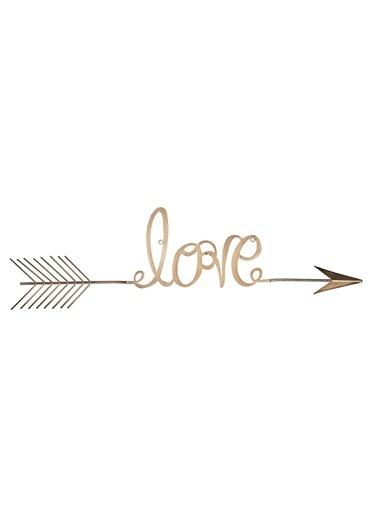 Warm Design Love Ok Duvar Dekoru Altın